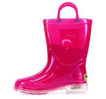 Kids Lighted Solid Rain Boot - Pink