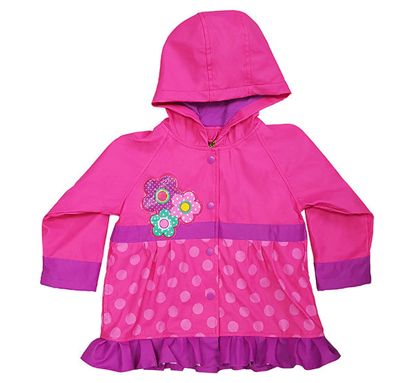 Kids Flower Cutie Rain Coat - Pink