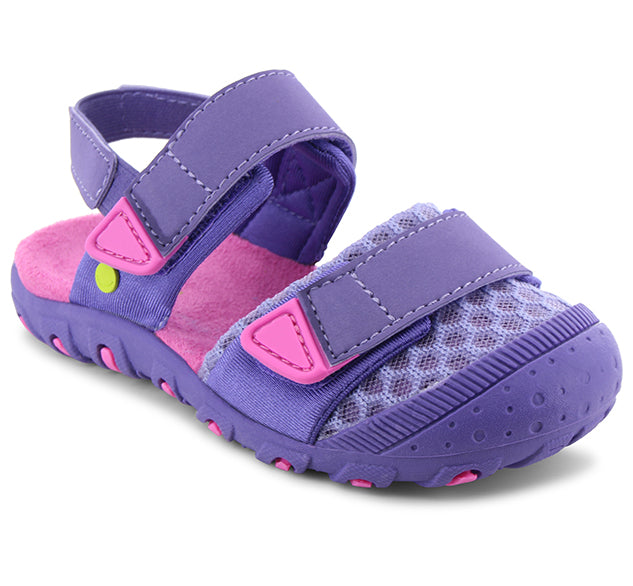 Kids Crest Sandal - Purple