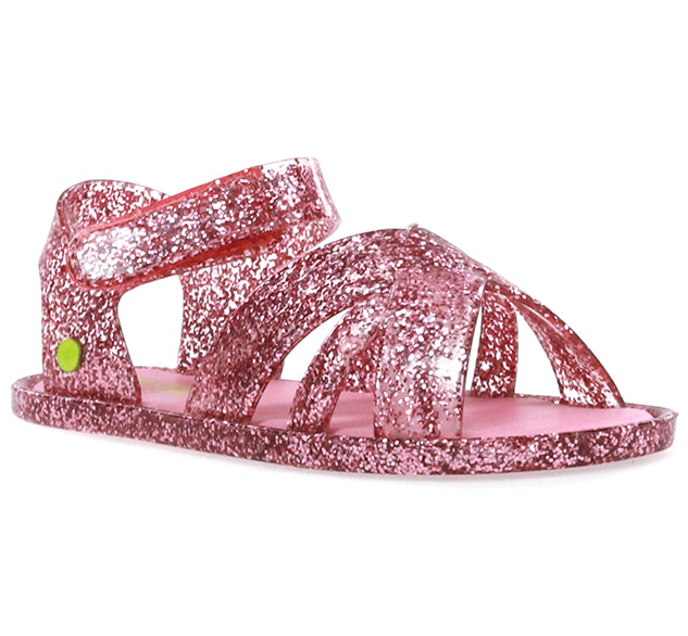 Kids Sandbox Glitter Sandal - Rose Gold