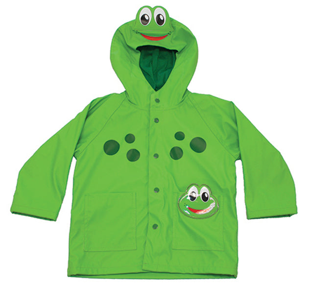 Kids Frog Rain Coat - Green