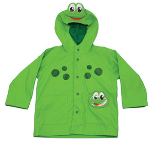 Kid's Frog Rain Coat Green from Western Chief