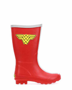 Kids Youth Classic Tall Wonder Woman Rain Boot - Red