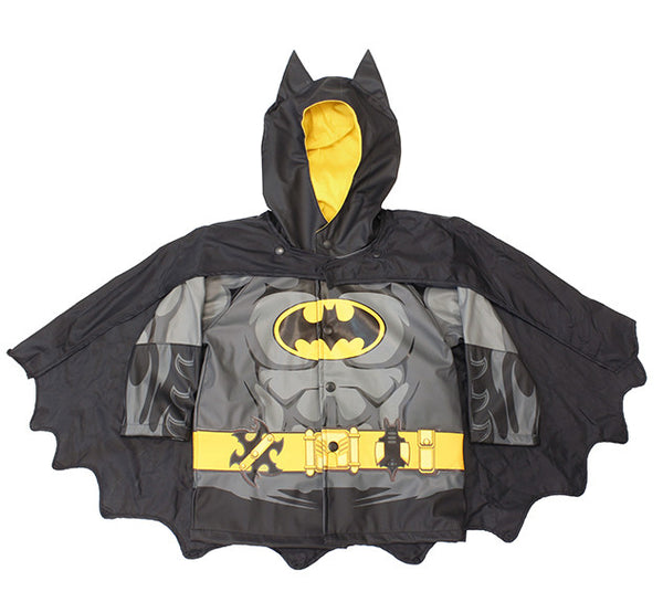Kids' Batman Rain Coat - Black