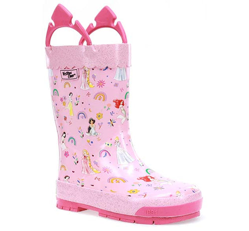 Kids Princess Flower Child Rain Boot - Pink