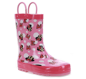 Kids Minnie Bow Town Rain Boot - Pink