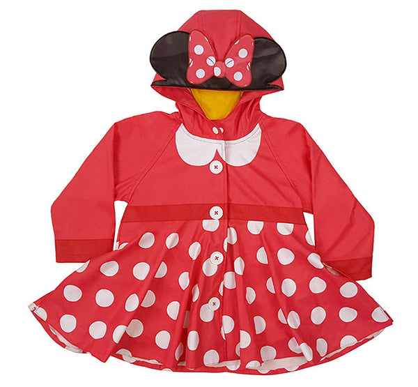 Kids' Minnie Mouse Rain Coat - Red