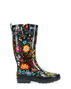 Women's Garden Play Rain Boots - Black