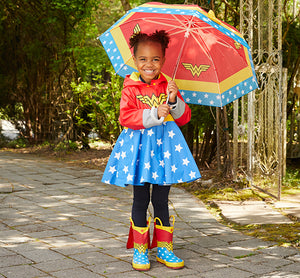 Kids Wonder Woman Umbrella - Red - Western Chief