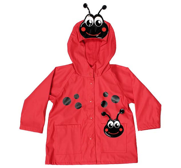 Kids Ladybug Rain Coat - Red