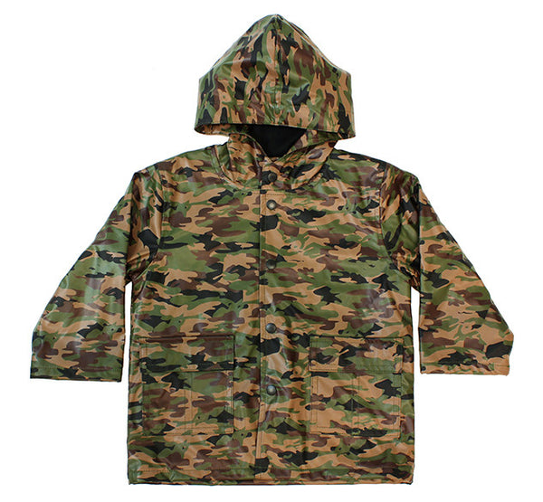 Kids' Camo Rain Coat - Green - Western Chief