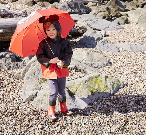 Kids' Mickey Mouse Rain Coat - Red