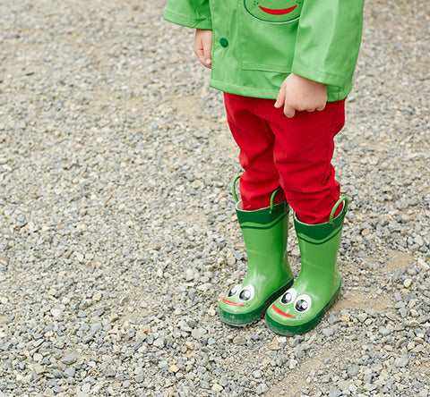 Kids' Frog Rain Boots - Green - Western Chief