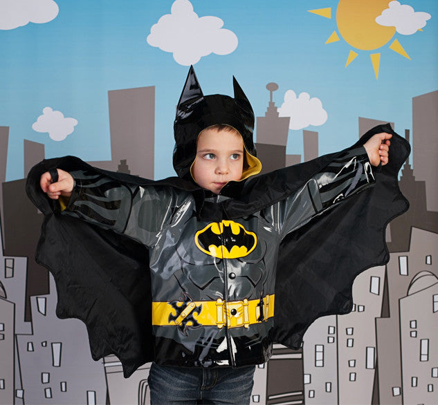 Kids Batman Rain Coat Black Western Chief