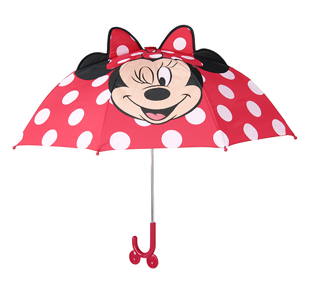 Kids' Minnie Mouse Umbrella - Red