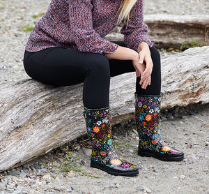 Womens Garden Play Rain Boots - Black - Western Chief