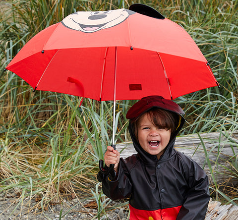 Kids' Mickey Mouse Umbrella - Red