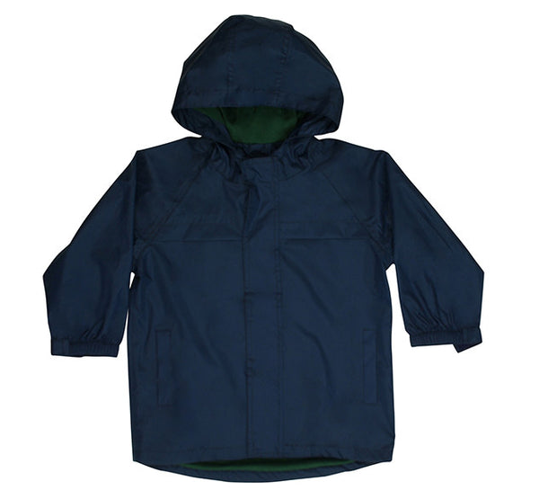 Kids' Solid Nylon Rain Coat - Navy