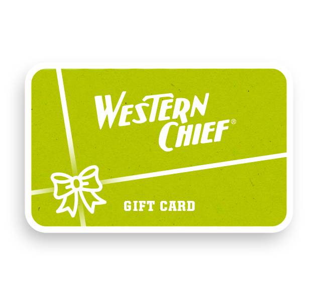 Western Chief email only Gift Card with options for $25, $50, and $100.