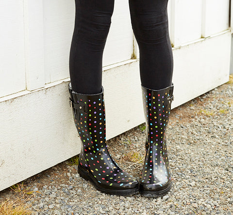 Womens Ditsy Dot Rain Boot - Multi - Western Chief