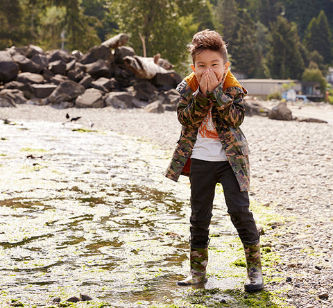 Kids Camo Rain Coat - Green - Western Chief