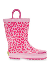 Kids Leopard Rain Boot - Fuschia