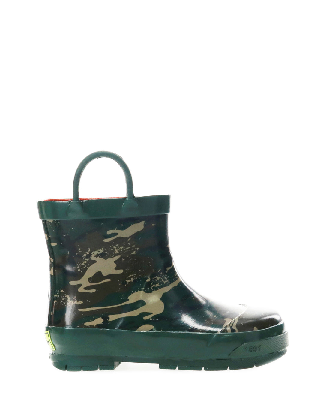 Kids Shorty Ankle Rain Boot - Olive