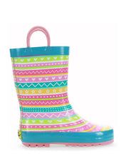 Kids Spring Stripe Rain Boot- Multi