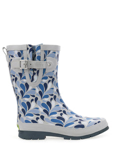 Women's Darling Paisley Mid Rain Boot - Gray