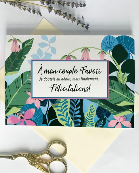 Carte - À mon couple Favori