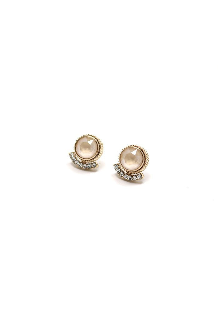 Boucles d'oreille Mimosa - champagne