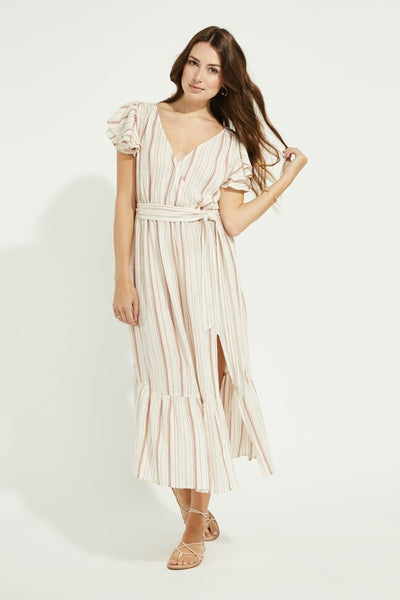 Robe Ophelia - natural multistripe