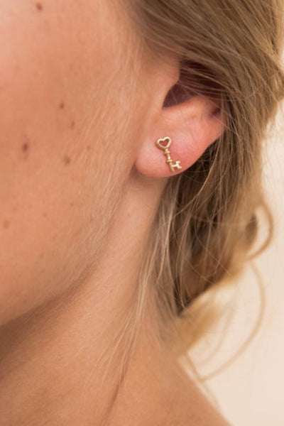 Boucles d'oreille Key - or