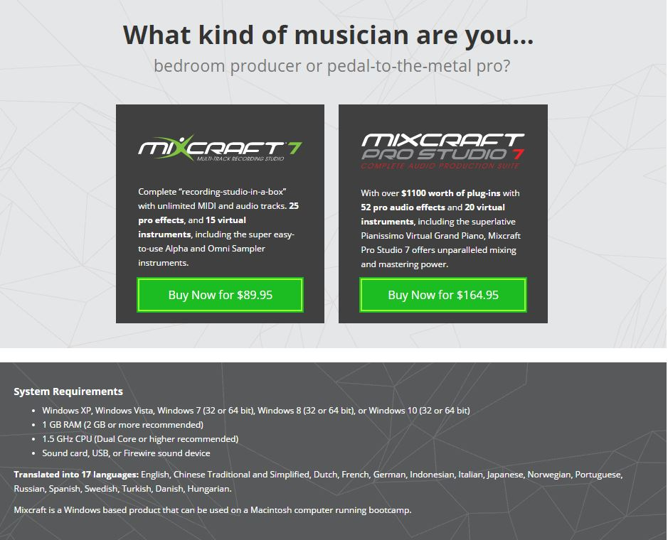 Mixcraft 7 and Mixcraft 7 PRO - click or tap for more info
