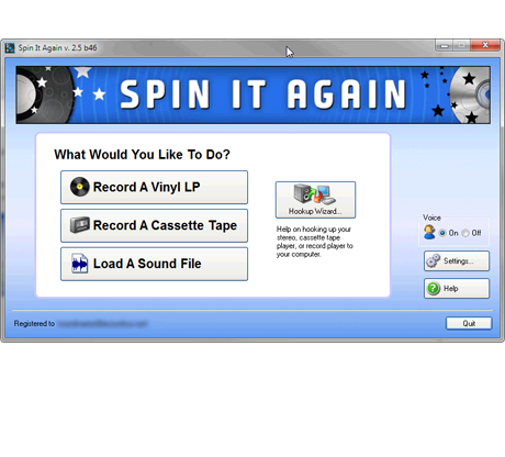 SPIN IT AGAIN - Convert LPs   Cassettes to CD / MP3