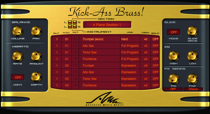 World Class Virtual Horn Section - Kick ASS Brass!