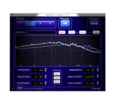 NoNOISE 3 Audio Units   VST Plug-in