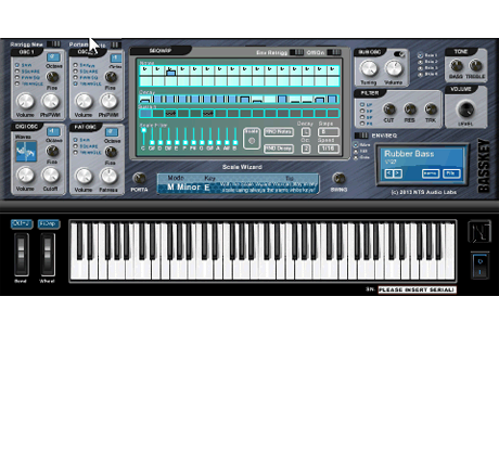 Virtual Analogue Bass Synthesizer