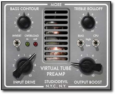 Virtual Tube Preamp Modeling Plug-In
