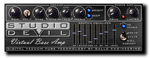 Virtual Bass Amp Modeling Plug-In