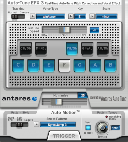 Auto-Tune EFX3 Pitch Correction Software