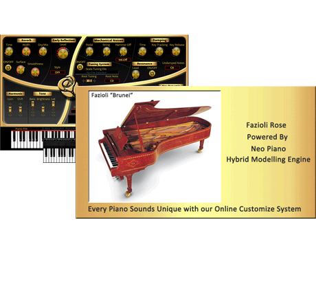"Fazioli ""Brunei"" 10 feet Concert Grand"