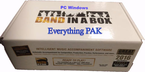 Band in a box (BIAB) Everything pak windows