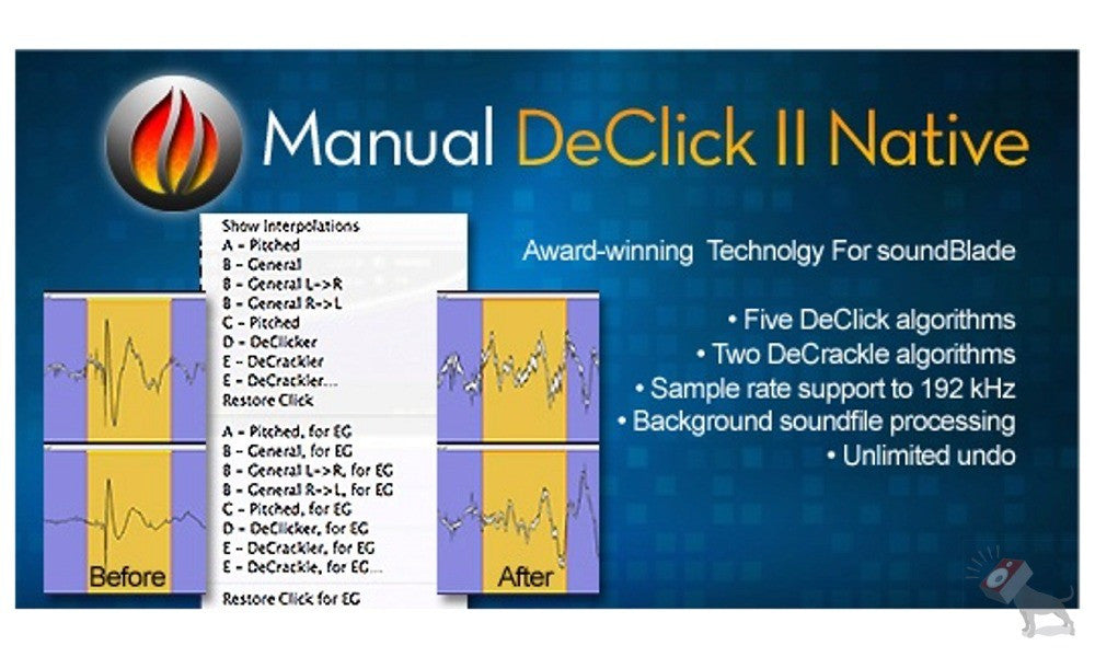 Manual DeClick II Native for soundBlade