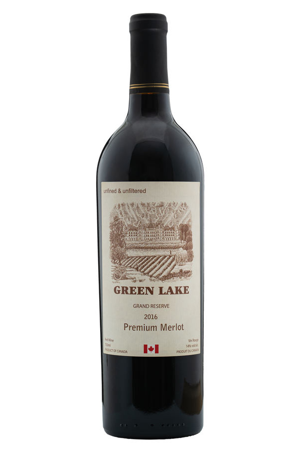 Green Lake Grand Reserve Premium Merlot 2016 (12 pack)