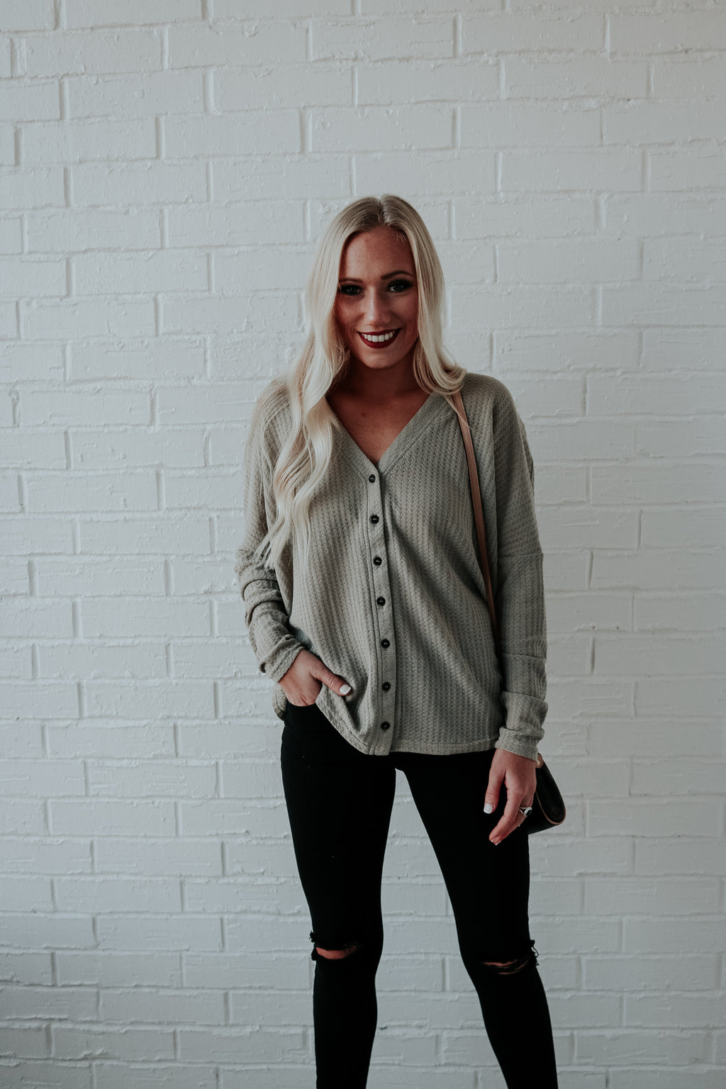Better Than The Rest Long Sleeve Top - Sage