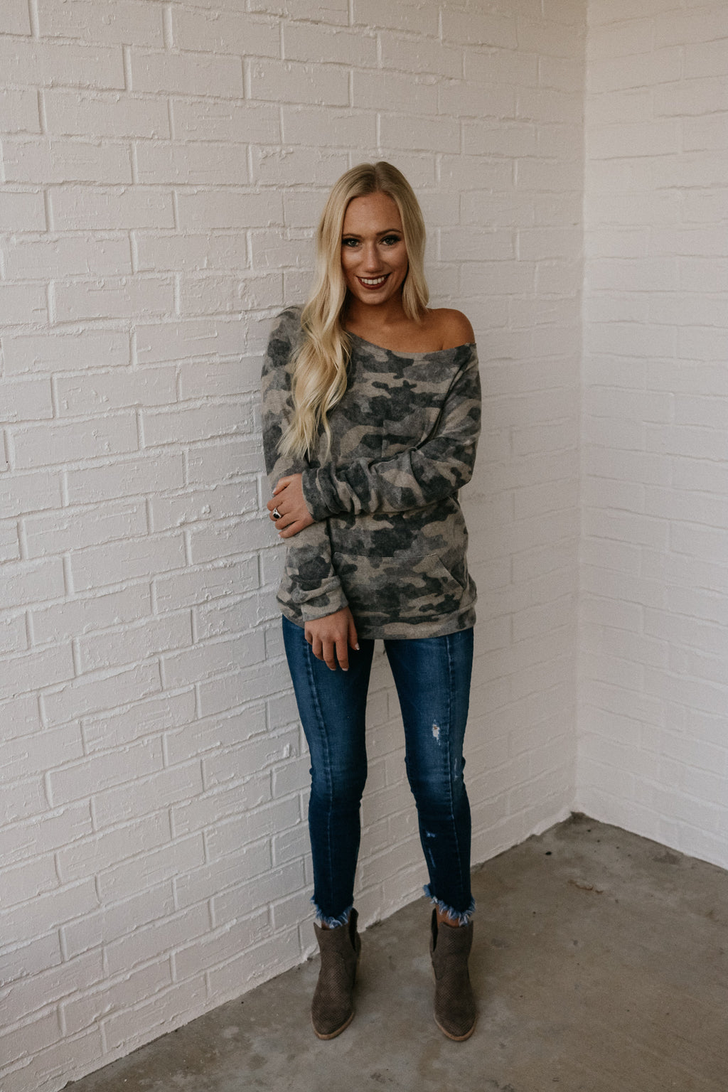 All About The Camo Sweater