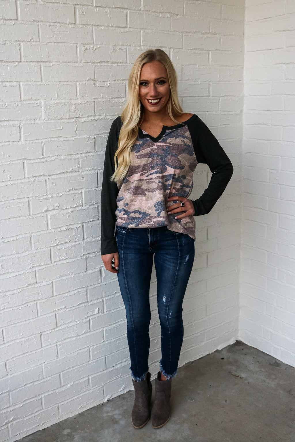 In Season Camo Top