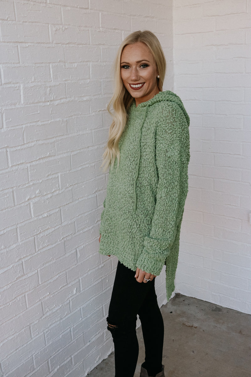 Cozy Up Hoodie - Light Olive