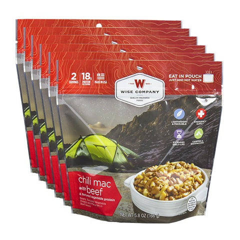6ct Pack - Chili Mac with Beef (2 Serving Pouch)